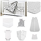 The Peanut Shell® Fluffy Cloud 11-Piece Sleep Essentials Crib Set in Black/White