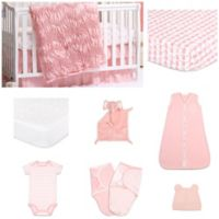 The PeanutShell™ Jayden 11-Piece Sleep Essentials Crib Set in Coral