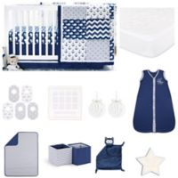 The Peanut Shell® Navy Whale 18-Piece Nursery Essentials Set