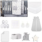 The Peanut Shell® Patchy Cloud 18-Piece Nursery Essentials Set