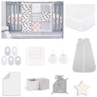 The Peanutshell™ Grey Woodland 18-Piece Nursery Essentials Set