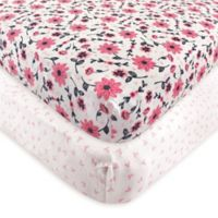 Hudson Baby® Botanical Fitted Crib Sheets (Set of 2)
