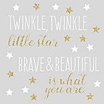 RoomMates® Twinkle Twinkle Star Peel & Stick Wall Decals in Gold/White