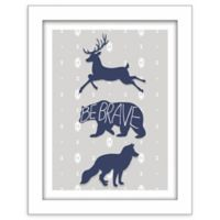 "RoomMates® ""Be Brave"" 11-Inch x 14-Inch Shadowbox Wall Art"