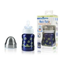 Pacific Baby Hot-Tot 4 fl.oz. Stainless Steel Wide-Neck Insulated Baby Bottle in Navy
