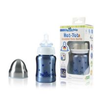 Pacific Baby Hot-Tot 4 fl.oz. Stainless Steel Wide-Neck Insulated Baby Bottle in Blueberry