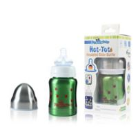 Pacific Baby Hot-Tot 4 fl.oz. Stainless Steel Wide-Neck Insulated Baby Bottle in Cherry