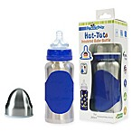 Pacific Baby Hot-Tot 7 fl. oz. Wide-Neck Insulated Baby Bottle in Silver/Blue