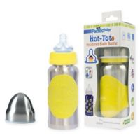 Pacific Baby Hot-Tot 7 fl. oz. Wide-Neck Insulated Baby Bottle in Silver/Gold