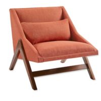 INK+IVY® Boomerang Lounge Chair in Orange/Pecan