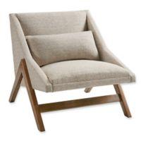 INK+IVY® Boomerang Lounge Chair in Brown/Pecan