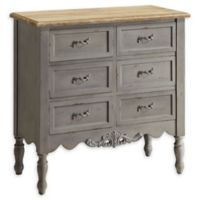 Powell Piper 6-Drawer Hall Chest in Grey