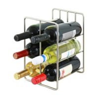 Oenophilia 6-Bottle Milano Wine Rack in Silver