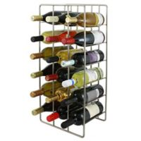 Oenophilia 18-Bottle Milano Wine Rack in Silver