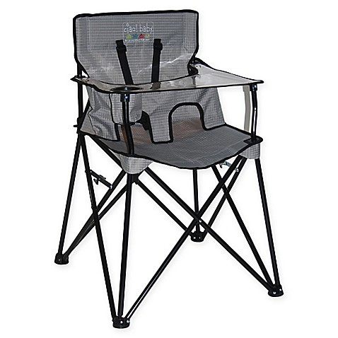 ciao! baby™ Portable High Chair in Grey Check  sc 1 st  Bed Bath u0026 Beyond & ciao! baby™ Portable High Chair in Grey Check - Bed Bath u0026 Beyond