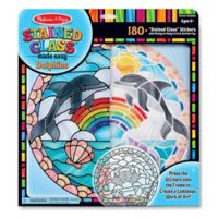 Melissa & Doug® Dolphins Satined Glass Craft Kit