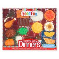 Melissa & Doug® Food Fun 17-Piece Combine & Dine Dinner Set