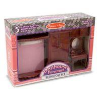 Melissa & Doug® 5-Piece Dollhouse Bedroom Furniture Set
