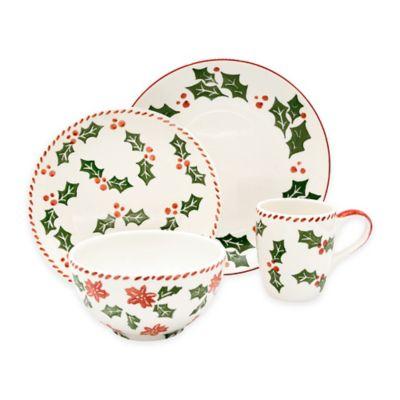 Euro Ceramica Natal Festive Holiday 16-Piece Dinnerware Set  sc 1 st  Bed Bath u0026 Beyond & Buy Seasonal Dinnerware from Bed Bath u0026 Beyond