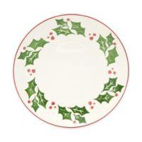 Euro Ceramica Natal Festive Holiday Dinner Plates (Set of 4)