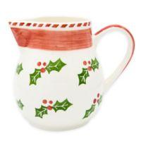 Euro Ceramica Natal Festive Holiday Pitcher