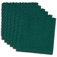 DII Design Imports Zigzag Barmop Dishcloth (Set of 6) in Teal