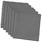 DII Design Imports Zigzag Barmop Dishcloth (Set of 6) in Grey
