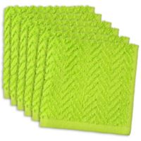 DII Design Imports Zigzag Barmop Dishcloth (Set of 6) in Green
