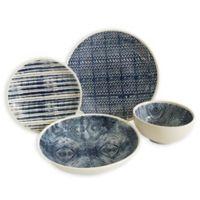 Baum Dalton 16-Piece Dinnerware Set in Blue