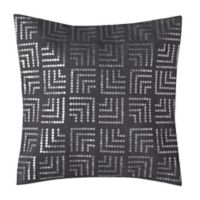 Make-Your-Own-Pillow Sequins 20-Inch Square Throw Pillow Cover in Grey