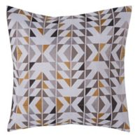 Make-Your-Own-Pillow Arcadia 20-Inch Square Throw Pillow Cover in Gold/Grey