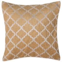 Make-Your-Own-Pillow Delnorte 20-Inch Square Throw Pillow Cover Gold