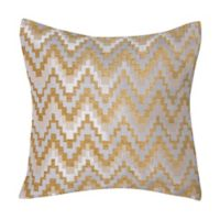 Make-Your-Own-Pillow Chevron 20-Inch Square Throw Pillow Cover in Gold