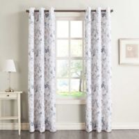 No.918 Marra Floral 84-Inch Grommet Top Window Curtain Panel in Harbor