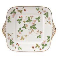 Wedgwood® Al Fresco Wild Strawberry Square Cake Plate