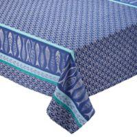 Design Imports Santorini Fish 52-Inch Square Tablecloth