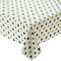 Design Imports Shamrock 52-Inch Round Tablecloth in Green