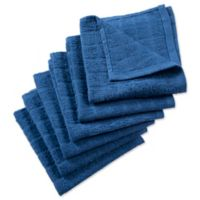 DII Design Imports Windowpane Dishcloth (Set of 6) in Blue