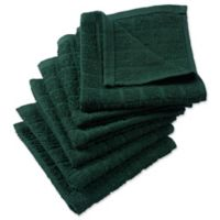 DII Design Imports Windowpane Dishcloth (Set of 6) in Green