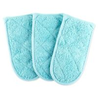 DII Design Imports Solid Pan Handle (Set of 3) in Aqua