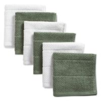 DII Design Imports Basic Chef Terry Dishcloth (Set of 6) in Green