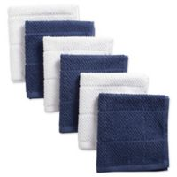 DII Design Imports Basic Chef Terry Dishcloth (Set of 6) in Blue
