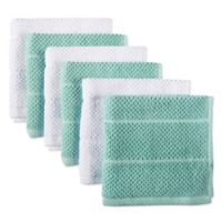 DII Design Imports Basic Chef Terry Dishcloth (Set of 6) in Aqua