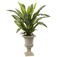 Nearly Natural 5.5-Foot Real-Touch Dracaena in White Urn