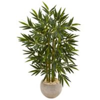 Nearly Natural 4-Foot Bamboo Tree in Sand Bowl