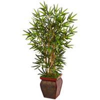 Nearly Natural 3.5-Foot Bamboo Tree in Chinese Basket Planter