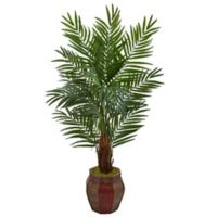 Nearly Natural 5-Foot Areca Palm Tree in Chinese Basket Planter