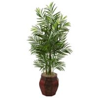 Nearly Natural 4.5-Foot Areca Palm Tree in Chinese Basket Planter