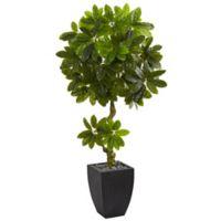 Nearly Natural 5.5-Foot Schefflera Tree in Slate Planter