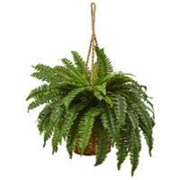 Nearly Natural 29-Inch Boston Fern Hanging Basket